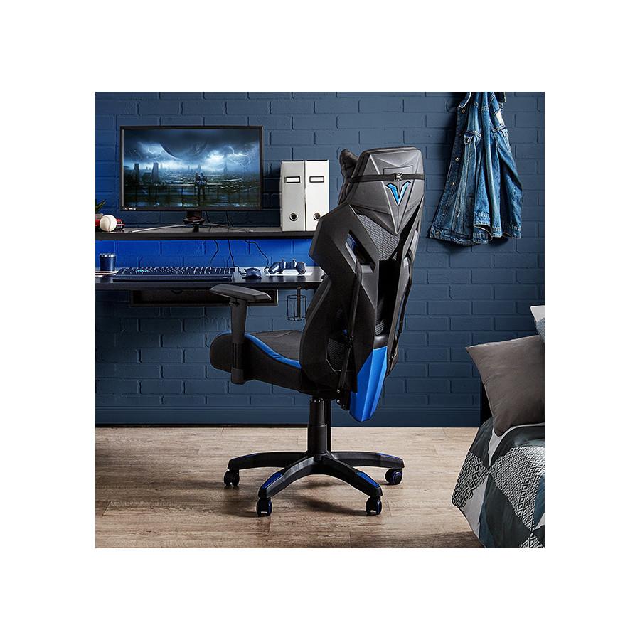 Fauteuil de bureau SONIK noir et bleu
