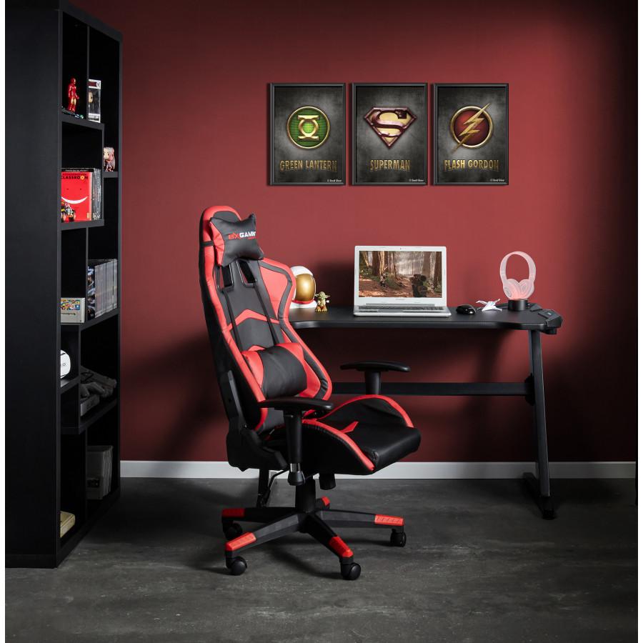 Fauteuil de bureau ELECTRA noir et rouge